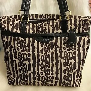 Coach leopard purse